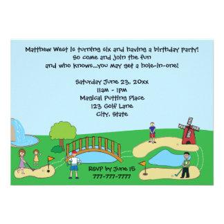 Mini / Miniature Golf Birthday Party Invitations