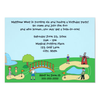Mini / Miniature Golf Birthday Party Invitations