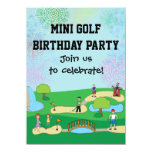 Mini Miniature Golf Birthday Party Invitations