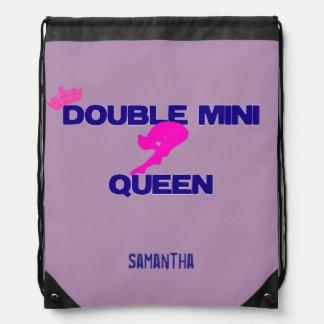 Mini mochila doble del saco de la cincha de la