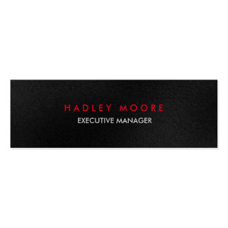 Mini modern grey red professional trendy plain mini business card
