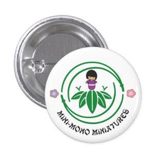 Mini-Mono Girl Logo 1 Inch Round Button