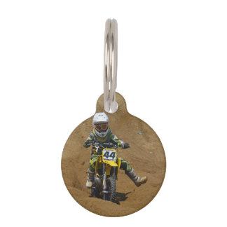 Mini motocrós placas de mascota