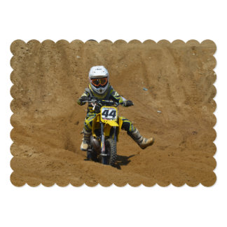 Mini Motocross Custom Invitations
