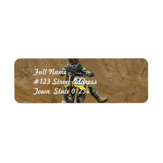 Mini Motocross Return Address Labels