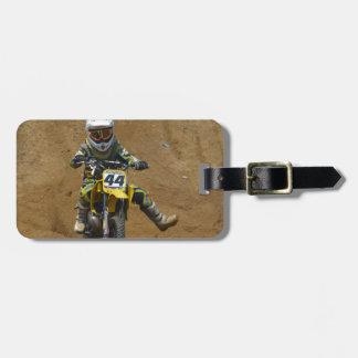 Mini Motocross Luggage Tag