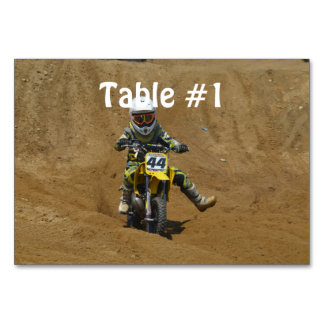Mini Motocross Table Card