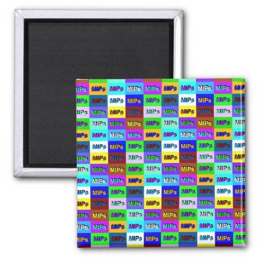 mini multi mips logo magnet