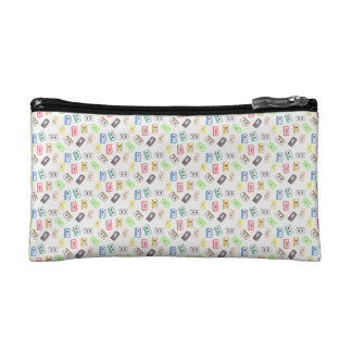 MINI MULTICOLORED CASSETTES Small Cosmetic  Bag Cosmetic Bags