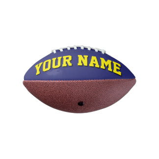 Mini NAVY BLUE AND YELLOW Personalized Football