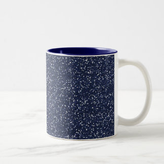 MINI NAVY BLUE GLITTER TEXTURE TEMPLATE BACKGROUND COFFEE MUG