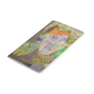 Mini notas - diseño del extracto del florista cuadernos grapados