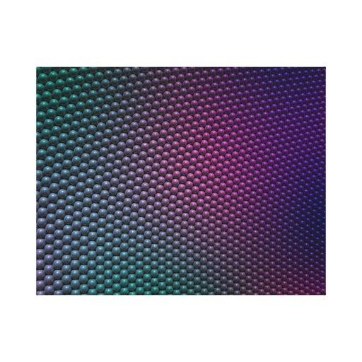 Mini orbes impresiones en lienzo estiradas