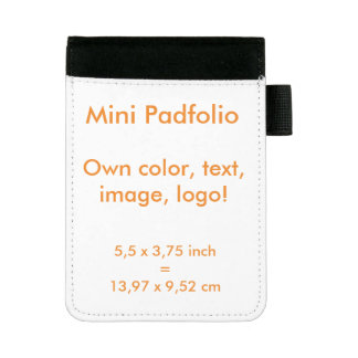 Mini Padfolio uni White ~ Own Color