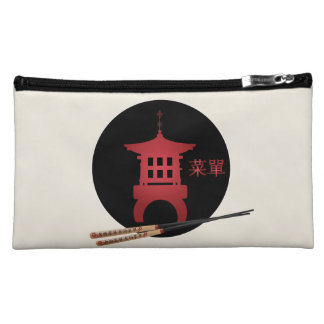"Mini pagoda chopsticks ""Menu"" Cosmetic Bag"