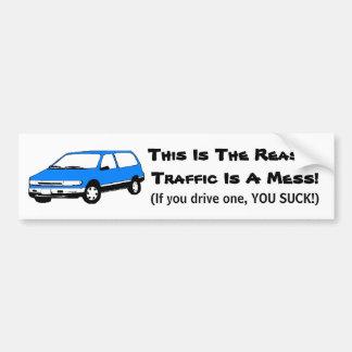 Mini pegatina para el parachoques de Van Pegatina Para Auto