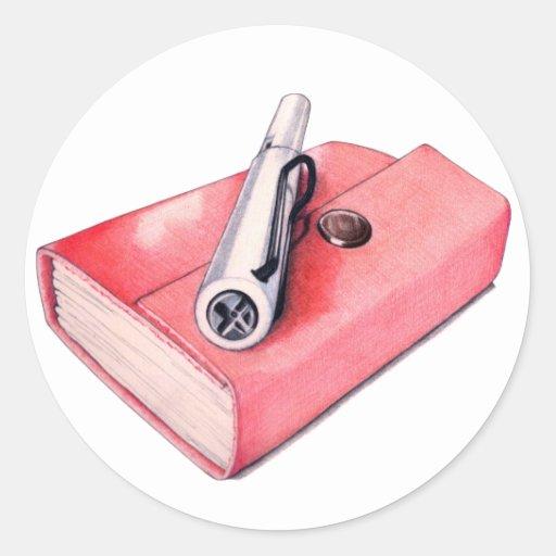 Mini pegatina rojo del Sketchbook