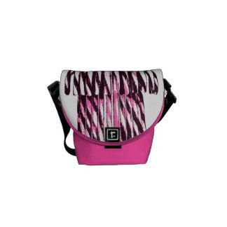 Mini Pink Candy Canes Messenger Bag