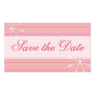 Mini Pink Save the Date cards Double-Sided Standard Business Cards (Pack Of 100)