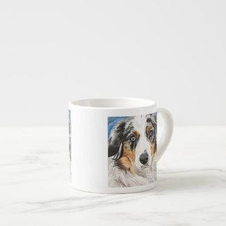 Mini pintura australiana taza espresso