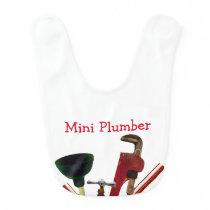 Mini Plumber Baby Bib