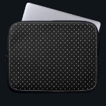 "Mini Polka Dots in Black and White Customize it Laptop Sleeve<br><div class=""desc"">A mini white polka dots on classic fashion graphic design pattern style decor that always make for a great custom gift for yourself or for someone special on your list, these are sure to make an impression on any festive occasions. Email us using the &quot;Ask this Designer&quot; email link below...</div>"