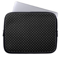 Mini Polka Dots in Black and White Customize it Laptop Sleeve