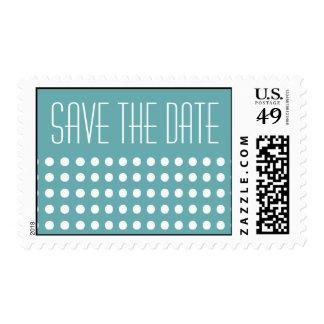 Mini Polka Dots Save The Date Postage (Sea Foam)