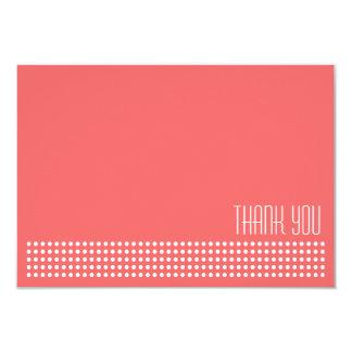 Mini Polka Dots Thank You Note (Coral / White) Custom Invite