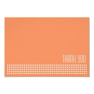 Mini Polka Dots Thank You Note (Orange) Announcement