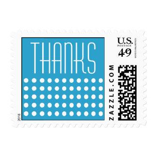 Mini Polka Dots Thanks Postage (Blue)