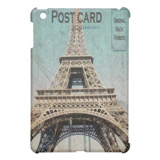 mini postal de la torre Eiffel del caso del iPad d