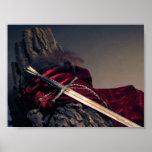 Mini poster de la espada medieval
