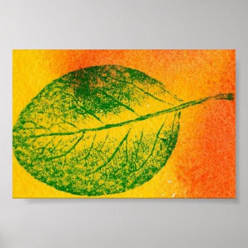 Mini-Poster de la impresión de la naturaleza de la