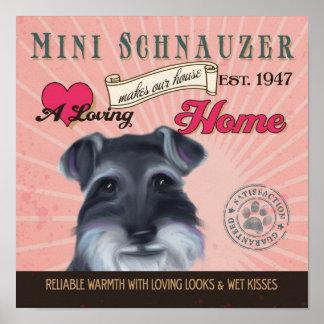 Mini poster del arte del perro del Schnauzer