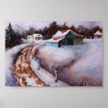 Mini-Poster del paisaje del invierno