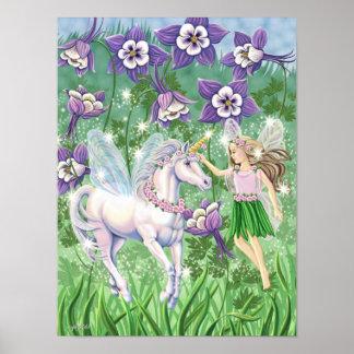 Mini poster del unicornio de hadas