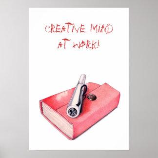 Mini poster rojo del Sketchbook Póster