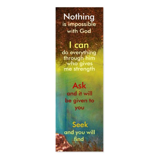 Mini prayer bookmark Double-Sided mini business cards (Pack of 20 ...