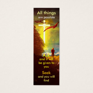 Mini prayer bookmark mini business card