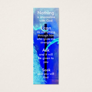 Mini prayer bookmark mini business card