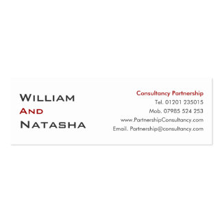 Mini Profile Card - Consultancy partnership