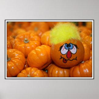 Mini Pumpkin Face Print