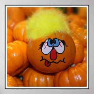Mini Pumpkin Face Posters