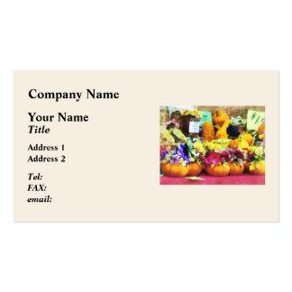 Mini Pumpkins and Gourds at Farmer's Market Business Card
