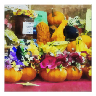 Mini Pumpkins and Gourds at Farmer's Market Poster