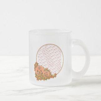 Mini Pumpkins with Fall Leaves Photo Frame 10 Oz Frosted Glass Coffee Mug