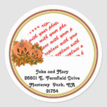 Mini Pumpkins with Fall Leaves Photo Frame Classic Round Sticker