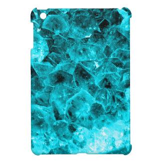 mini racimo del cristal de cuarzo de la aguamarina iPad mini fundas