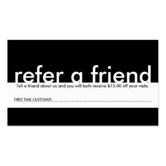 mini refer a friend business card